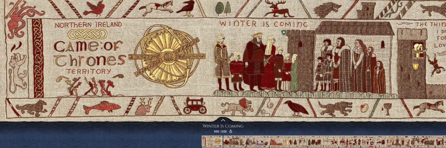 """Game of Thrones"" key moments on massive tapestry - new ones being added throughout the new season"