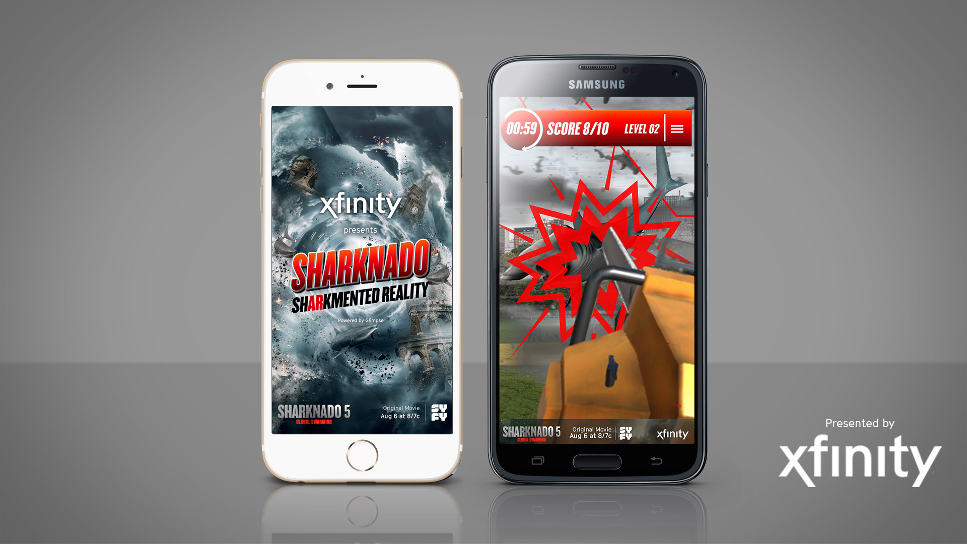 New augmented reality mobile game for Sharknado