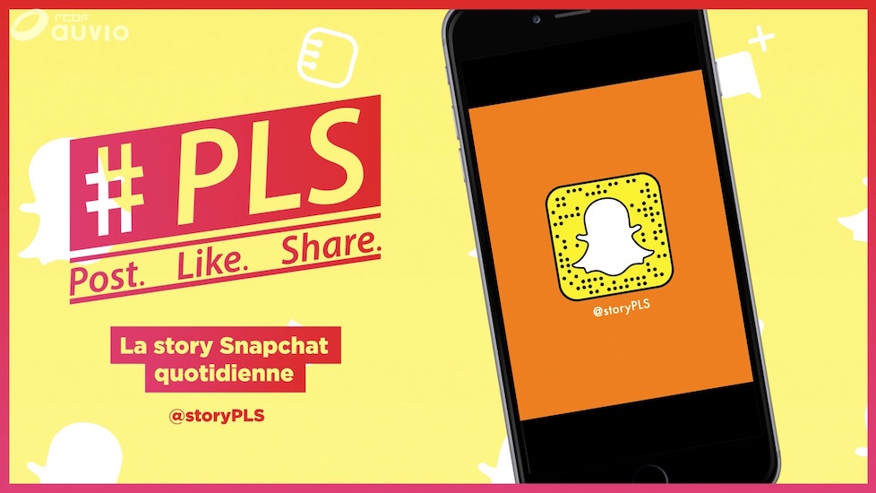 New Snapchat series by RTBF: #PLS Post. Like. Share.